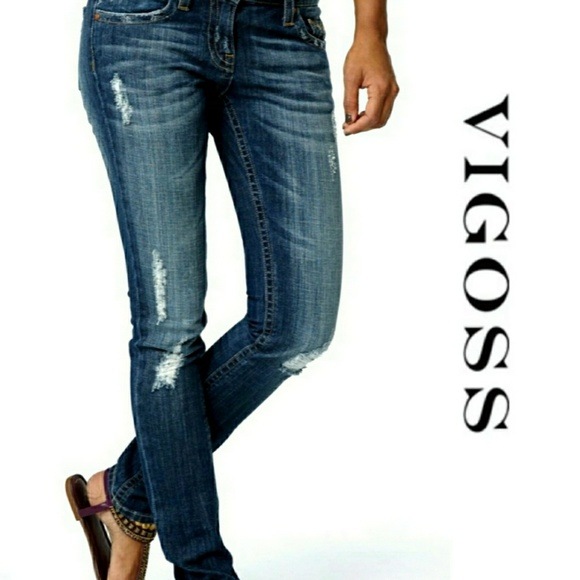 Vigoss Denim - Vigoss Brooklyn Skinny Distressed Jeans 26